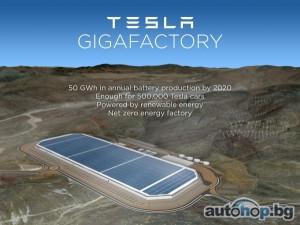 Tesla ще строи гигазавод в Невада